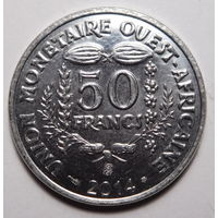 Британская Западная Африка. 50 франков 2014г.
