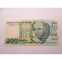 БРАЗИЛИЯ 200 КРУЗЕЙРО  UNC