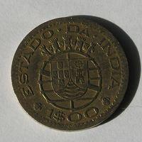 Порт. Индия 1 Эскудо 1958 (107)