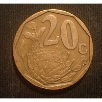 Южная Африка. ЮАР. 20 центов 2004 год