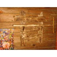 Вешалка деревянная под заказ.для баньки и т.д.ручная работа.