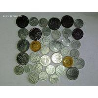 Монеты Италии с рубля.