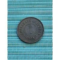 Бруней  1 цент 1886 г.
