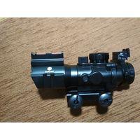 Компактный оптический прицел 4x32 крепление Weaver , с подсветкой