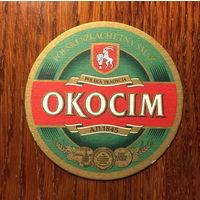 """Подставка под пиво """"Okocim"""" (Польша) No 2"""