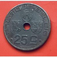 22-16 Бельгия, 25 сантимов 1946 г. Французский тип