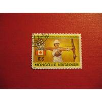 Марка Олимпийские Игры - Монреаль, Канада 1976 год Монголия
