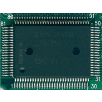 S80C196NU (40MHz, корпус QFP-100) - 16-бит микроконтроллер, ретро-процессор