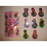 Киндер Стильные закладки для книг и тетрадей Ландрин серия Мировые девчонки для девочек Набор 8 шт