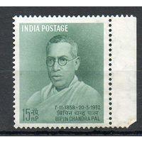 100 лет со дня рождения Б. Чандры Индия 1958 год чистая серия из 1 марки