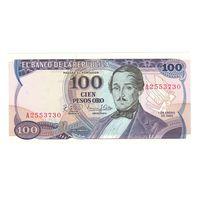 Колумбия 100 песо 1980 года. Состояние UNC!