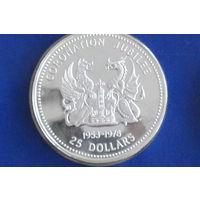 Виргинские острова 25 долларов 1978(25 лет коронации Елизаветы II)