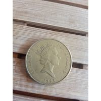 Монета Новая Зеландия 2 доллара 1998 год Журавль Фауна