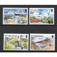 Почтовый транспорт Остров Святой Елены 1996 год серия из 4-х марок