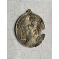 Образок католический серебро