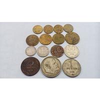 Лот монет СССР , 15 штук , с 10 копеек .