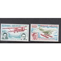 Авиация. Летчики. Габон. 1980. Полная серия.  Michel N 731-732 (12,0 е)