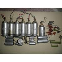 Разное 3. Конденсаторы, резисторы, лампочки.