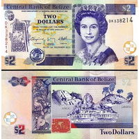 Белиз. Британский Гондурас  2 доллара 2017 год  UNC