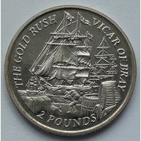 Фолклендские острова. 2 фунта. Золотая лихорадка. 2000