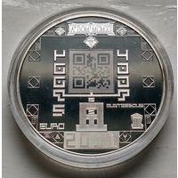 Нидерланды 5 евро, 2011 100 лет Монетному двору Нидерландов  3-3-2