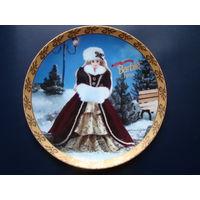 Сувенирная тарелка, Barbie Happy Holidays 1996