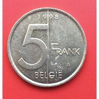 Бельгия, 5 франков 1998 г. Фламандский тип. Распродажа!