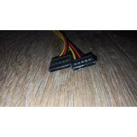 Адаптер переходник Molex на 2SATA кабель для блока питания компьютера.
