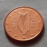 1 евроцент, Ирландия 2008 г., AU