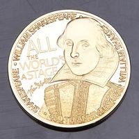 "Декоративная монета - медаль. 450 лет ""Уильям Шекспир"".  распродажа"