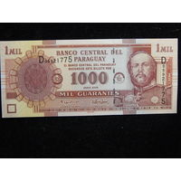 Парагвай 1000 гуарани 2005г UNC