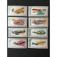История авиации. Гвинея,1979, серия 8 марок