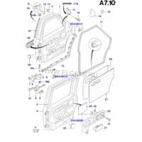 Уплотнительные резинки задних дверей Ford Sierra MKII