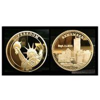 Памятная монета ПОМНИ 11 сентября 2001 года Трагедия в США