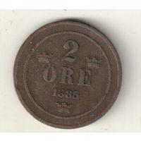 Швеция 2 эре 1885
