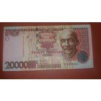 Банкнота 20 000 цеди Гана 2003