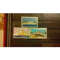 Корабли, флот, транспорт, марки, Гамбия
