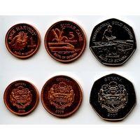 Гайана 1, 5, 10 долларов 2007, 2008 г. (Земледелие)