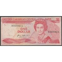 Антигуа и Барбуда 1 доллар образца 1986 года! Редкая!