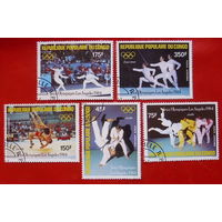 Конго. Спорт. ( 5 марок ) 1984 года.