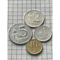 Литва 4 монеты 1991
