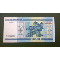 1000 рублей  серия ТВ