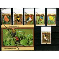 Бенин 1999г, птицы, 6м. 1 блок