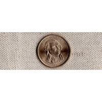 1 доллар 2007 США 2-й президент Джон Адамс /(Sh)