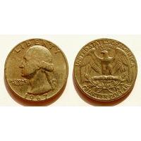 Квотер (25 центов) 1967 СШA медно-никель. KM#164a
