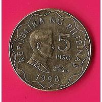 37-25 Филиппины, 5 песо 1998 г.