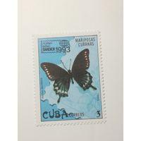 """Куба 1993. Международная выставка марок """"BANGKOK 1993"""" - Бангкок, Таиланд. Бабочки"""