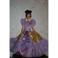 """Продам новое ПЛАТЬЕ для куклы Барби: """"КРЕМ БРЮЛЕ"""" - машинный самошив, сидит весьма аккуратно. Сама кукла, как и её головной убор в стоимость не входят. Пересыл по почте платный!"""