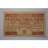 Германия 100 миллионов марок 1923 год,  aUNC