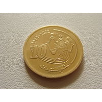 Марокко.  10 сантим  (1423) 2002 год  Y#114